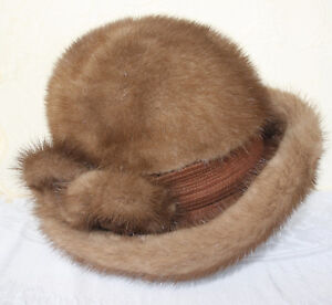 Women's Mink Fur Hat by Kates in Original Box Size Large London Ontario image 2