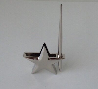 Nib Desktop Business Card And Pen Holder With Pen Stainless Steel New