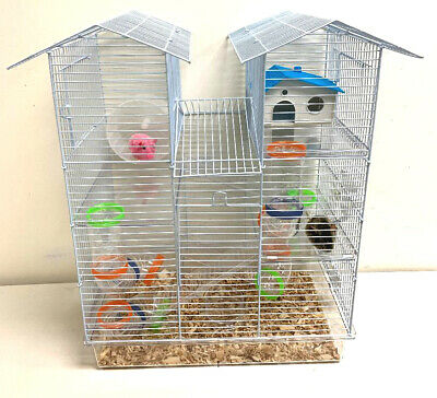 Large Twin Tower Syrian Hamster Habitat Rodent Degu Gerbil M
