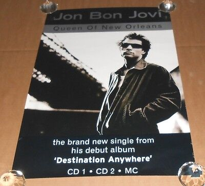 Jon Bon Jovi Queen Of New Orleans Promo Original Poster 30X20
