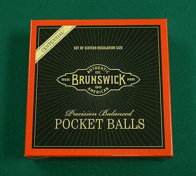 Brunswick Centennial Pool Balls Set -- New