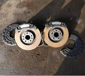 AUDI S3 8P FRONT BRAKES 345MM GTI ED30 VRS CUPRA R32 GT TDI A3 5x112
