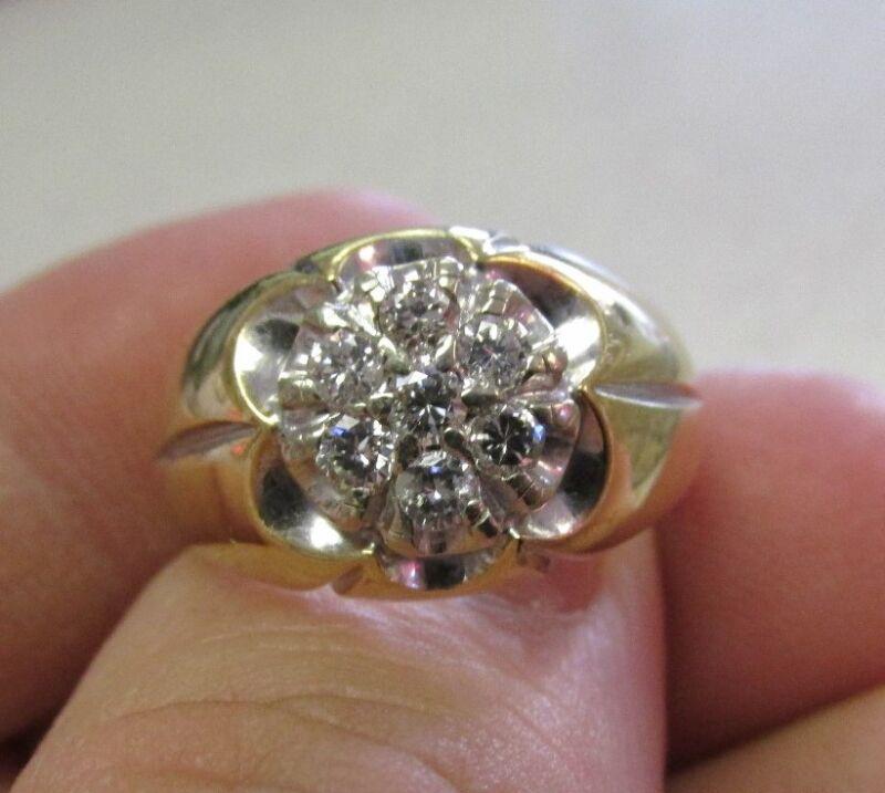 Spectacular 14k Diamond Ring Size 9-1/2    Make Offer