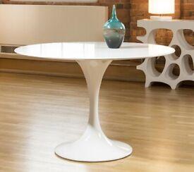 Fiber glass white dining tulip table :) 120cm diameter