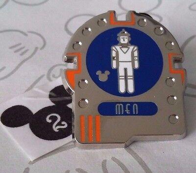 Space Mountain Mens Restroom Signs DLR 2016 2017 Hidden Mickey Disney Pin