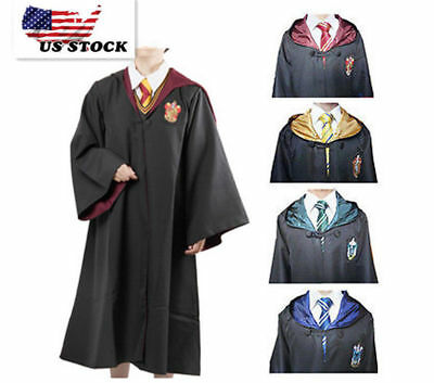 Adult Kids Wizarding Hogwarts houses Gryffindor Hufflepuff Ravenclaw Slytherin - Childrens Wizard Costumes