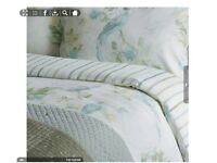LAURA ASHLEY RRP £130 BNWT Super King Size Harewood Duck Egg Blue Duvet Cover 2x Pillowcase