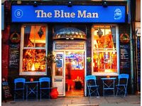 The Blue Man Cafe Bar needs new team members