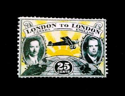 Canada 1927,-25c, London to London Flight, ,Scott ClP6  $ 100000 .Replica