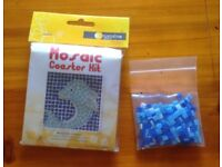 mosaic coaster craft kit with extra tiles