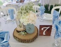 Beautiful rustic wedding centerpieces for rent