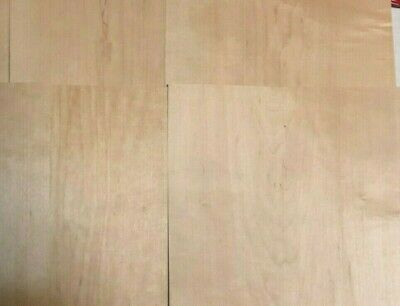 Maple Wood Veneer 12 X 12 1 X 1 Pack Of 5 Sheets 138 Thickness