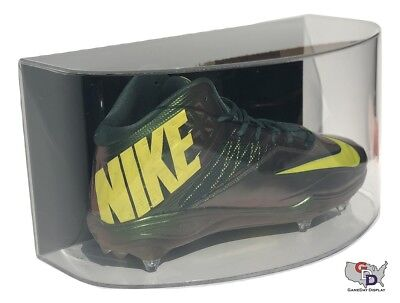 Curved Shoe Wall Mount Acrylic Display Case Large Size 17 Uv Basketball Football