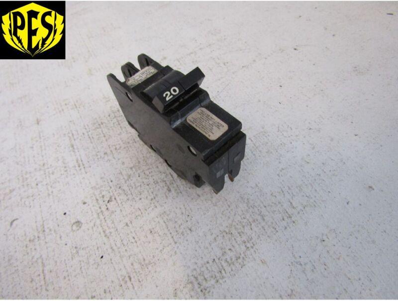 FEDERAL PACIFIC/ AMERICAN TYPE NC NC220 2 POLE 20 AMP THIN BREAKER FPE PIONEER