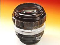 Nikon - nikkor-h auto 1:1.8 f 85mm lens OLD £200