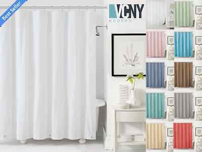 VCNY Peva Plastic Shower Curtain Liners With Magnets - Assorted Colors - Plastic Curtains