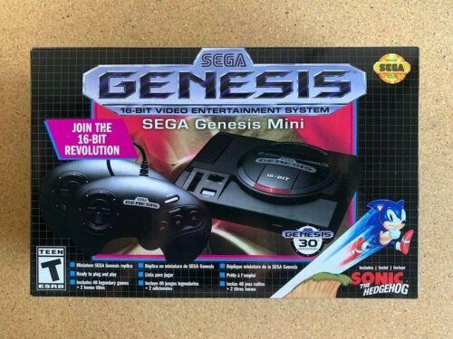 NEW SEGA Genesis Mini Console by Sega - 40 games +2 bonus titles + 2 Controllers