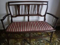 Antique Small Victorian 2-Seater Settee