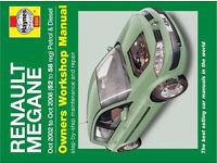 Wanted -Renault megane hayne's manual