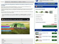 Hi Gear Zenobia 6 man tent complete with porch, carpet and footprint
