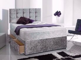 HIGH QUALITY VELVET DIVAN BED SET