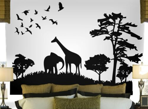 Safari Wall Decal Deco Art Sticker Mural