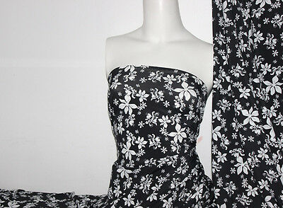 (Floral Print Lycra/Spandex 4 way stretch Matt Finish Fabric)