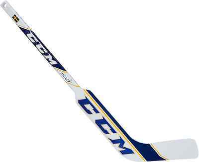 Blue Hockey Stick (CCM composite mini hockey goalie stick Sweden blue yellow left hand new LH)