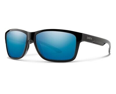 Smith Drake Sunglasses Black Frame ChromaPop Polarized Blue Mirror (Drake Shades)