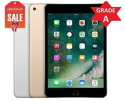 Apple iPad Mini 4 16GB WiFi Retina Display 7.9 Touch ID GOLD GRAY SILVER - (R)