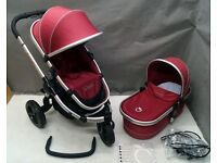 iCandy Peach Jogger in CRANBERRY TRAVEL SYSTEM !!!!