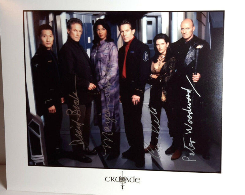 Babylon 5 Crusade Autograph 4 Cast Signed 8x10 Photo-(LHAU-108)