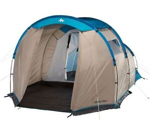 Quechua XL Air Pop Up Tent 3 Man Blue Camping Trip Storage Outdoor Hiking Canopy
