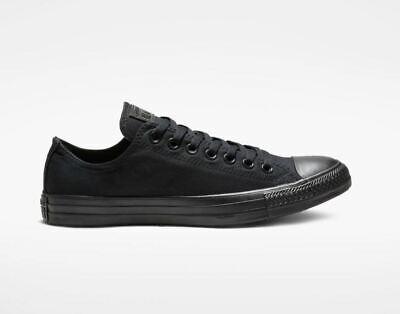 Converse Chuck Taylor LOW TOP Mens Womens Black Monochrome M5039 Sneaker Shoes