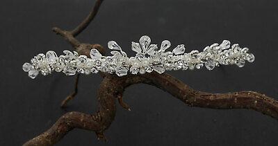Diadem Tiara Haarschmuck Hochzeit Swarovski Elements Perlen ivory OVP ♥♥