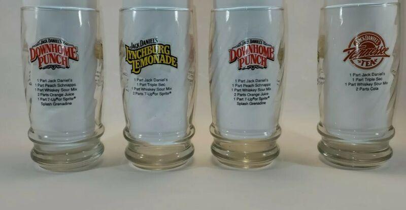 4 New Jack Daniels Dowhome Punch Lynchburg Lemonade Tennessee Tea Recipe Glass