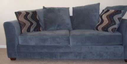 3 seat sofa couch x2 microfibre/velour type material. Stain proof East Kurrajong Hawkesbury Area Preview
