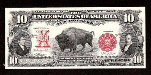 Proof Print or Intaglio by BEP Face of 1901 $10 U.S. Legal Tender Note FREE SHIP