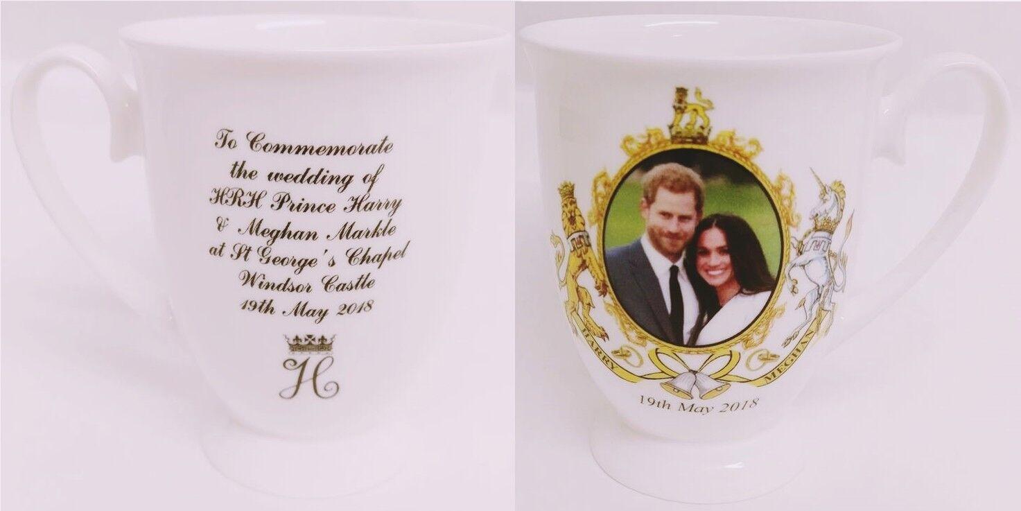 Commemorative HRM Prince Harry and Meghan Markle Royal Wedding Bone China Mug
