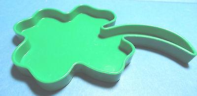 "Vintage ""Shamrock"" Green Plastic Tupperware Cookie Cutter Irish Good Luck"