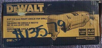 Dewalt Dw160v Heavy Duty 38 10mm Vsr Right Angle Drill Free Shipping
