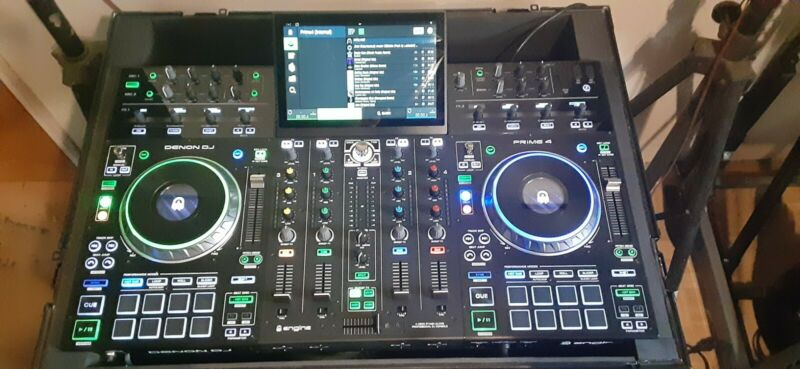 Denon DJ Prime 4 DJ System w 1TB SSD & Entire Music Collection! Audio Monster