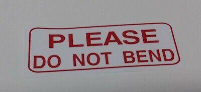 Please Do Not Bend Peel Off Stickerslabels - 1 X 2 58 - 300 Total