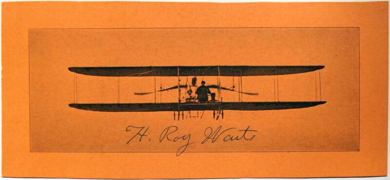 H. Roy Waite Aviation Pioneer