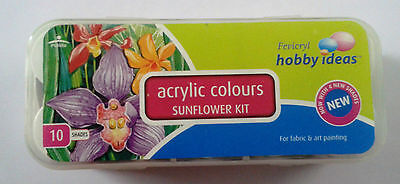 Pidilite Fevicryl Acrylic Colors 10 Color Set  Assorted Colors 15MLx10 Color