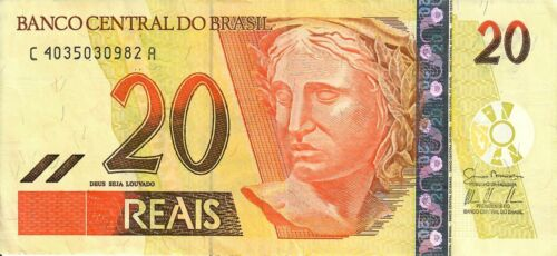 Brazil 20 Reals 2002 Lightly Circulated Great Condition