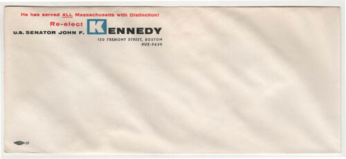 1958 JFK John Kennedy US SENATE Political Envelope MASSACHUSETTS Boston CAMPAIGN