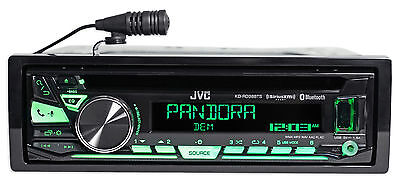 $77.50 - JVC KD-RD98BTS 1-Din Car Bluetooth CD Receiver, USB/AUX/Pandora/iPhone/SiriusXM