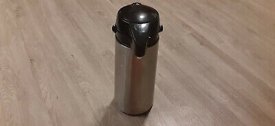 Coffee Beverage Dispenser Pump Tall 2 Qt Quart Thermal Airport Carafe