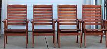 Set of 4 Wooden Arm Chairs Kalamunda Kalamunda Area Preview